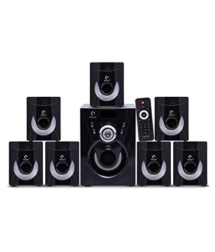 IKALL I Kall 7.1 Channel TA-777 Portable Home Audio Speaker System - Black