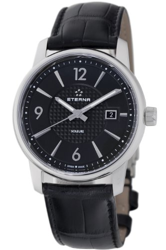 Eterna Men's 8310.41.43.1186 Soleure Automatic Black Dial Swiss Watch
