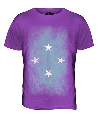 CandyMix Mikronesien Verblichen Flagge Herren T Shirt Violett