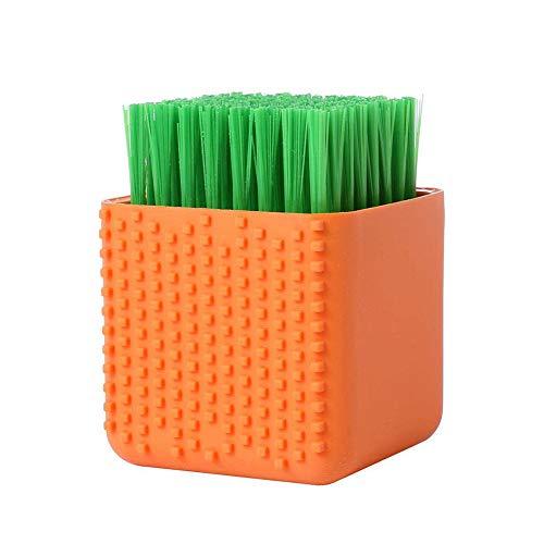 NaiCasy Silikon-Wäschebürste scheuern Multi Gebrauch Haushaltstuch Schrubber Dual-Use-Schrubber für Kleidung Unterwäsche Schuhe orange
