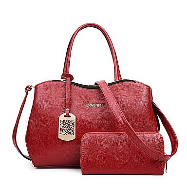 La donna pu formale / Casual / evento/parte / Ufficio & Carriera Set borsa,Ruby White