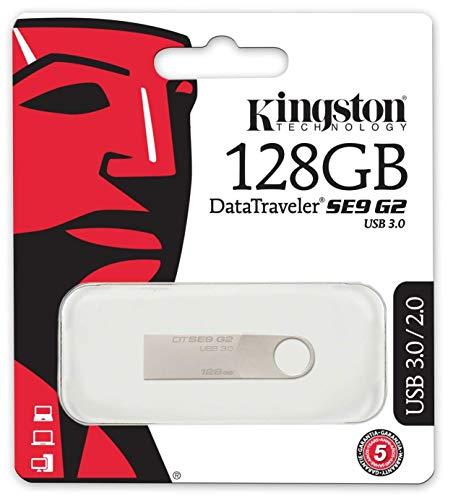 Kingston DTSE9G2 USB-Stick, USB 3.0, 128 GB, Schwarz -