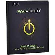 RAVPower Batterie de Samsung Galaxy S4 / i9500 Batterie de Remplacement Rechargeable - 3.8V 2600mAh/9.88Wh - NON COMPATIBLE avec Galaxy S4 Active ou S4 Mini - Batterie de Lithium avec NFC