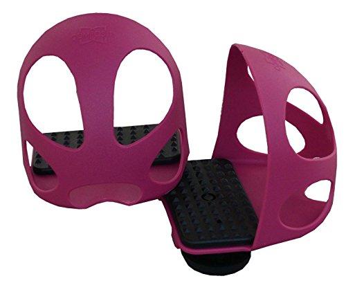 Reitsport Amesbichler Compositi Steigbügeleinlage mit Durchrutschschutz 1 Paar = 2 Stück Durchrutschschutz Steigbügel für Kinder Himbeere Sicherheitssteigbügeleinlage mit Kappe