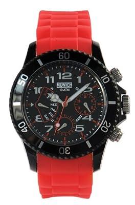 Munich MU119.4A - Reloj Unisex de quarzo caucho de Munich