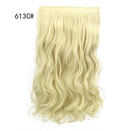 Majome Haarteil Frauen Dame Girl Perücke lange Haarverlängerungen fünf Clip Curls Vorhang chemische Faser Mode Perücke Wig