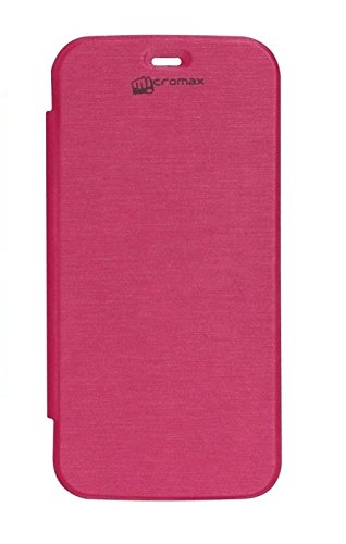 YGS Flip Case Cover For Micromax Canvas Juice A77 -Pink  available at amazon for Rs.199
