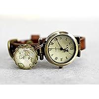 Armbanduhr GLOBETROTTER Echtleder