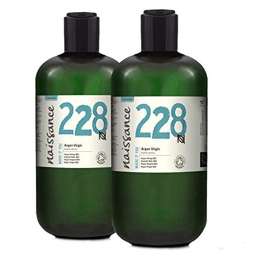 Naissance Huile d'Argan du Maroc BIO (n° 228) - 1 litre (2 x 500ml) - 100% pure, naturelle - pressée à froid et non-raffinée - végane, sans hexane et sans OGM - anti-âge et antioxydante