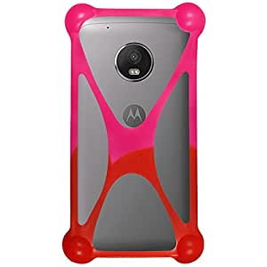 Casotec Universal Silicone Bumper Frame Soft Gel Phone Case Cover for Motorola Moto G5 - Multicolor