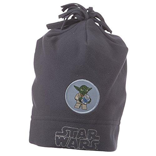 LEGO Wear Jungen Mütze Star Wars Yoda Fleecemütze ALF 662, Gr. 52, Grau (CHARCOAL...