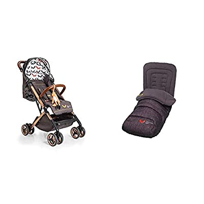 Cosatto Woosh XL Pushchair, Suitable from Birth to 25 kg, Mister Fox with Footmuff