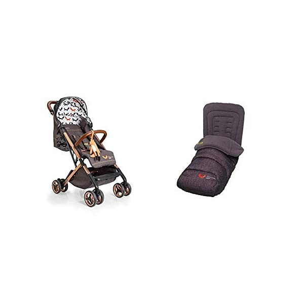Cosatto Woosh XL Pushchair, Suitable from Birth to 25 kg, Mister Fox with Footmuff Cosatto Compact from-birth pushchair. carries up to 25kg child, so you can use it for longer. Hands full? it's lightweight with one-hand fold into compact bundle. easy to store. The Cosatto Footmuff warms the cockles of hearts It is literally one huge hug for your dot; it is custom crafted to fit your Cosatto pushchair perfectly 1