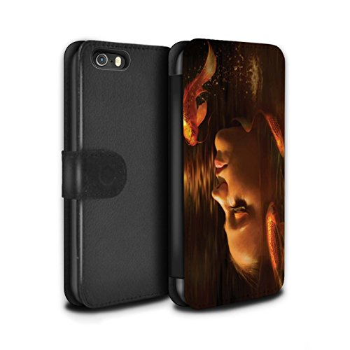Officiel Elena Dudina Coque/Etui/Housse Cuir PU Case/Cover pour Apple iPhone 5/5S / Poissons d'Or Design / Agua de Vida Collection Poissons d'Or