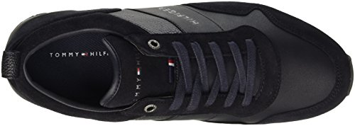Tommy Hilfiger M2285axwell 11c1, Pompes à plateforme plate homme Blu (Midnight (403))
