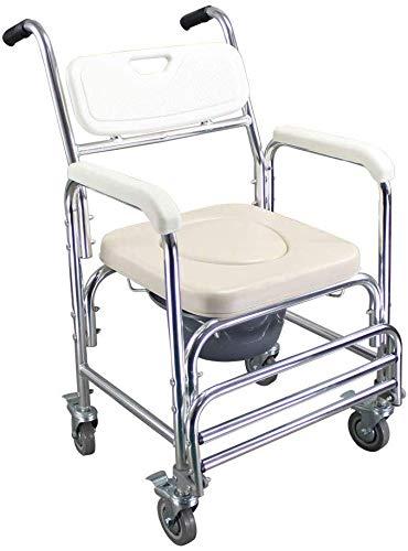 Toilettensitz Stuhl Ältere Menschen Bad Dusche mit Armlehnen Rückenlehne Toilettenstühle Duschstuhl Schwangere Frauen Spa Bank Bad Stuhl -