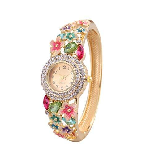 MAOMAFG Wickelarmbanduhr Damen Elegant,Armbanduhr Ethnischen Stil,Damen Quarz Kettenuhr,Vergoldete Diamantschmuck High-End-Geschenke
