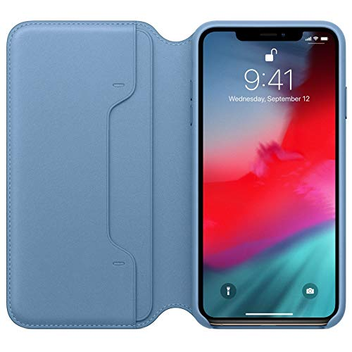 Folie Protector Case Cover (Protector Case Cover Hülle Schutzhülle Flip Wallet Case für iPhone XS max 6.5 inch 6,5 Zoll Luxus Schlank Tuch Fall Abdeckung (Blau))
