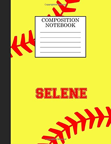 Selene Composition Notebook: Softball Composition Notebook Wide Ruled Paper for Girls Teens Journal for School Supplies | 110 pages 7.44x9.269 di Sarah Blast