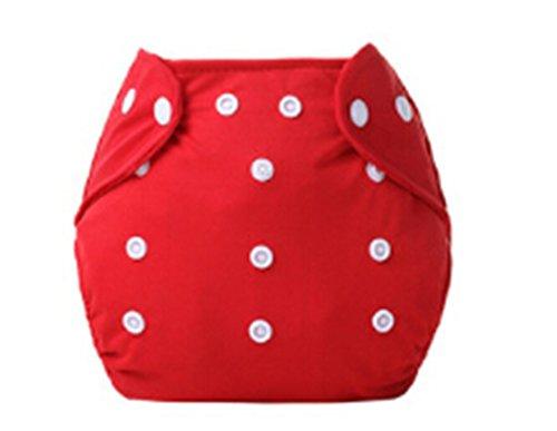 Madlst Babytuchwindeln Einstellbar waschbare und wiederverwendbare Taschenwindeln,rot