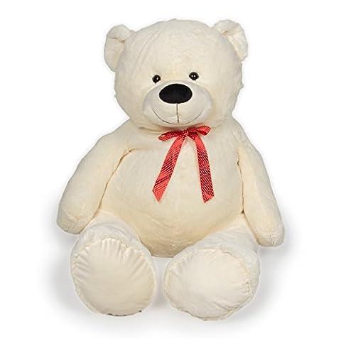 XXL Riesen Teddybär Kuschel-Teddy 175cm (diag.) weiß (175 Sitz)