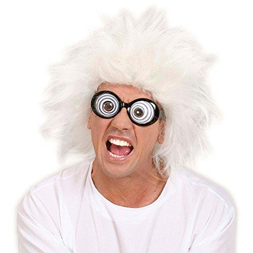 Graue Perücke Professor Erfinder Lehrer Erfinderperücke Professorenperücke Lehrerperücke Fasching Karneval Nerd Irrer Verrückter