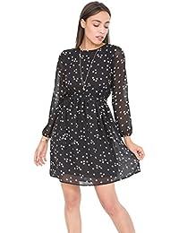 Robe-chemise transparente avec imprimé étoiles