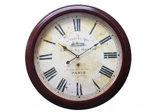 Horloge murale CLOCK en fer - D.58 cm