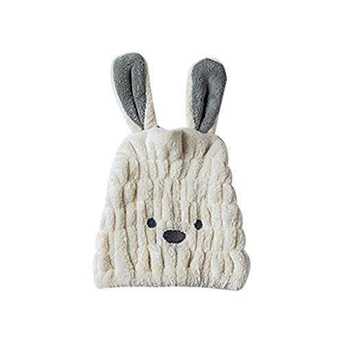 erthome Cartoon Microfiber Hair Turban Quickly Dry Hair Hat Wrapped Towel Bathing Cap Haare CapHaarwischen Kopf Erwachsenen Kinder Baumwolle (Beige)