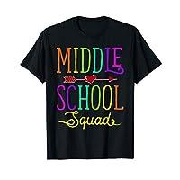 Back To School Shirt Middle School Squad Teacher, Student T-Shirt