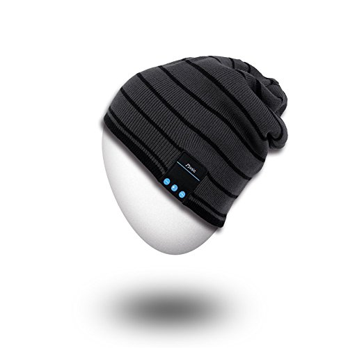 Rotibox Cappello Beanie Bluetooth, Cappellino Trendy Knit Short Trendy con Auricolare Bluetooth Headphone Auricolare Audio Music Hands-free chiamata telefonica per Outdoor Sport Fitness Ginnastica Workout Regalo di Natale