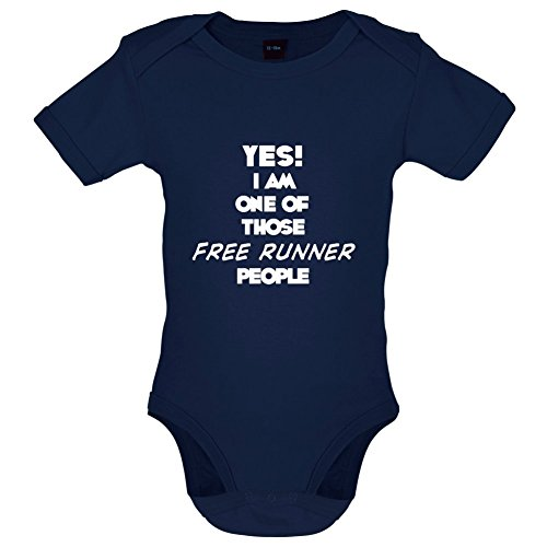 Yes! I Am One Of Those FREE RUNNER People - Babygrow / Bodysuit - 7 Colours - Ages 0-18 Months