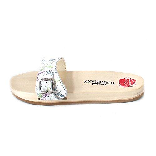 Berkemann Unisex-Erwachsene Original Sandale Pantoletten Mehrfarbig (Weiß/kolibri)