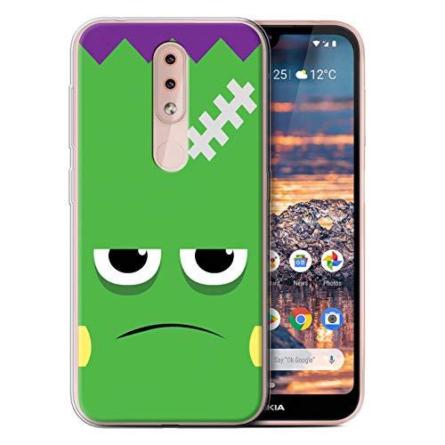 eSwish Gel TPU Hülle/Case für Nokia 4.2 2019 / Frankenstein Muster/Halloween Zeichen Kollektion