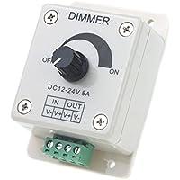 Regulador de intensidad - TOOGOO(R) DC 12V-24V LED Regulador de intensidad Controlador Ajuste de color unico Para 5050 3528 Tira LED