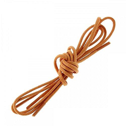 Les lacets Français Lacets Ronds Coton Ciré Couleur Orange