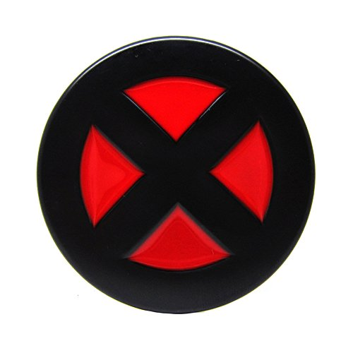 X-Men Logo Farbe Schwarz Rot Metall Gürtelschnalle (Rote Metall-gürtelschnalle)