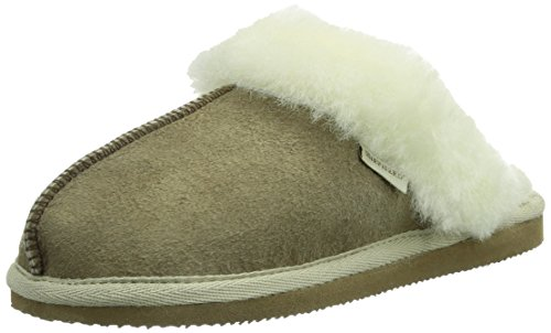 Shepherd Jessica Slipper, Chaussons Mules Doublé Chaud Femme Beige (stone 25)