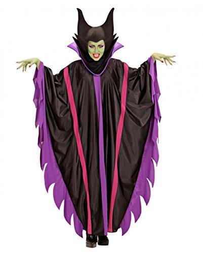 Horror-Shop Malefizia Kostüm als Hexenkostüm für Halloween & Karneval - Lila Dunkle Fee Kostüm