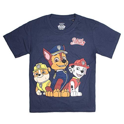 Paw Patrol Jungen Group T-Shirt, Blau Navy, 5-6 Jahre (Herstellergröße: SMALL)