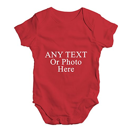 TWISTED ENVY Personalised Design Your Own Wording Photo Baby Unisex Funny Cute Infant Bodysuit Baby Grow Baby Romper