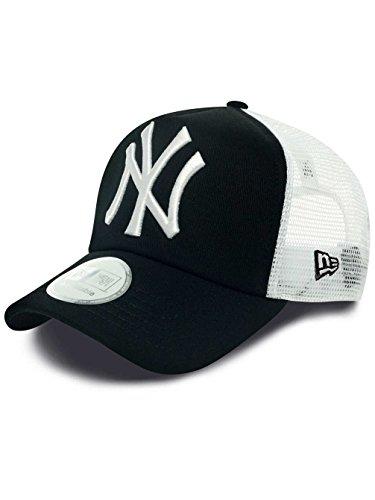 New Era Erwachsene Baseball Cap Mütze MLB Clean Trucker NY Yankees, Black/White, One Size, 10346934