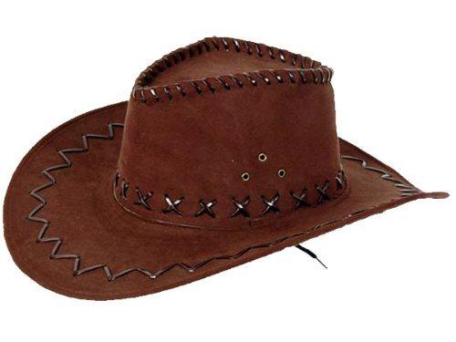 (Cowboyhut braun Westernhut Texas Australien Hut für Erwachsene, Farbe:braun 05)