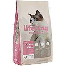 Amazon Brand - Lifelong - Complete Dry Cat Food With Salmon and Rice 3kg
