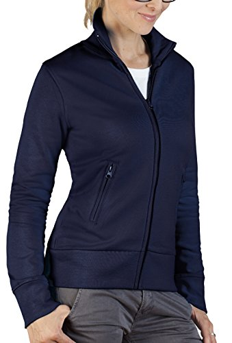 Damen Sweatjacke - Stehkragen, XXXL, Marineblau