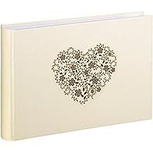 Hama Anzio Crema de color álbum de foto y protector - Álbum de fotografía (180 mm, 120 mm, Crema de color, 20 hojas, 10 x 15 cm, 20 hojas)