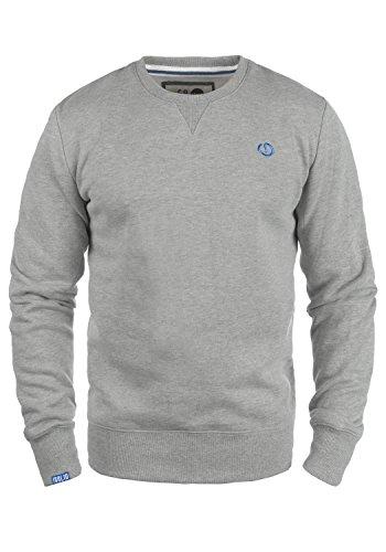 !Solid Benn O-Neck Herren Sweatshirt Pullover Pulli Mit Rundhalsausschnitt, Größe:S, Farbe:Light Grey Melange (8242)