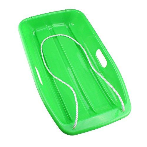 Bestlymood Slitta da Neve in plastica per slittini per Bambini Verde