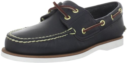 Timberland Men's Classic Amherst 2-Eye Boat Shoe, Navy, 11 (Amherst Eye Boat 2)