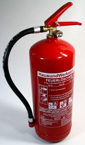 Hochleistungs-Feuerlöscher Pulver GP-6X ABC 6kg 12LE Dauerdrucklöscher Typ B Feuerlöscher